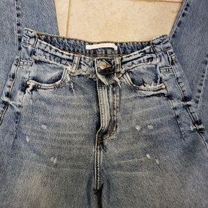 Zara Trafaluc high waist distressed jeans, size 2